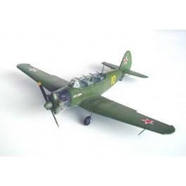"""YAKOVLEV YAK-18 """"MAX"""" APPAREIL D'ENTRAINEMENT - 1946"""" Armée soviétique. Maquette avion Trumpeter 1/32e"""