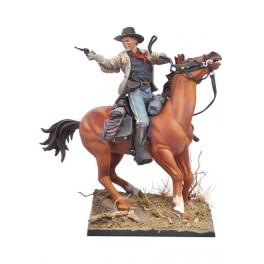 Andrea Miniatures 54mm Figurine d'Officier de Cavalerie U.S.1876.
