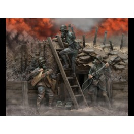 andrea miniatures,54mm.Trench Warfare (1916-1918).Historical figure kits.