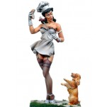 Pin-up de Andrea miniatures,80mm.Hamburger convoitise.