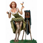 Andrea miniatures,80mm.Watch the Bird!!!Pin up figure kits.