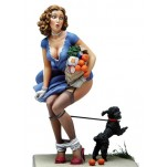 "Andrea miniatures,80mm.figuren Pin Up ""Schwarzer Hund""."