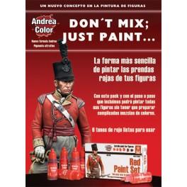 Andrea miniatures.Red Paint Set.