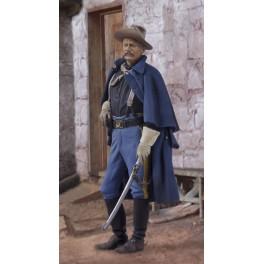 Andrea miniatures,54mm.Figurine d'Officier De Cavalerie U.S.1876.