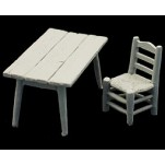 Andrea miniatures,54mm.Table et Chaise.