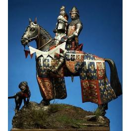 Crecy model.54mm Edouard II Prince De Galles,le prince noir à cheval .1346 ,figurine historique,