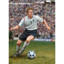 Figurine de Footballeur. Andrea miniatures,54mm à monter et à peindre en métal blanc.