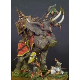 Eléphant De Guerre Carthaginois,202 Avant JC. Bataille de Zama -figurines à peindre -Andrea miniatures,54mm.