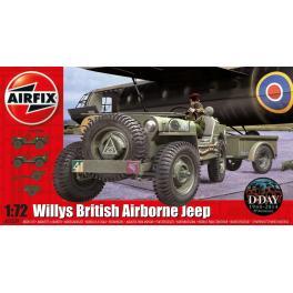 Maquette de WILLYS JEEP (Troupes Aéroportées) Et REMORQUE + CANON HOWITZER M1 PACK 75MM