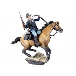 Figurine historique de cavalier US 54mm.Andrea Miniatures.