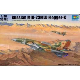 Maquette avion 1/48e- MIG-23MLD Trompeter.