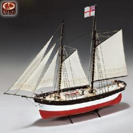 Maquette bateau bois-HMS Hunter de Amati.