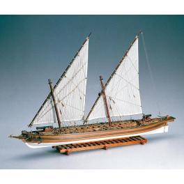 Maquette de bateau en bois,ARROW 1814 CANONIERE US Echelle variable.