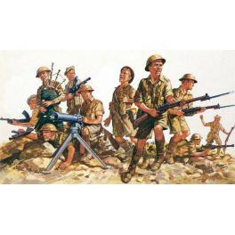 Figurines 1/76e.8em armée Britannique Afrique du Nord.Revell