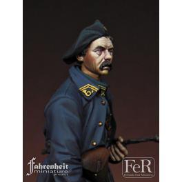 Figurine de chasseur Alpin 1918. FeR miniatures Résine.
