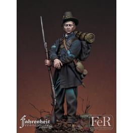 Figurine résine de volontaire en 1862, Iron Brigade. FeR Miniatures.