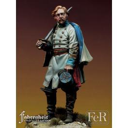 Figurine 75mm d'officier Sudiste. FeR miniatures Résine.