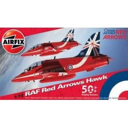 Maquette de Red Arrows au 1/72ème Airfix.