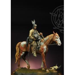 Figurine d'Indien Cheyenne Romeo Models 54mm.