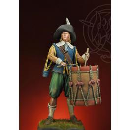 Figurine de tambour, bataille de Rocroi 1643. Romeo Models 75mm.