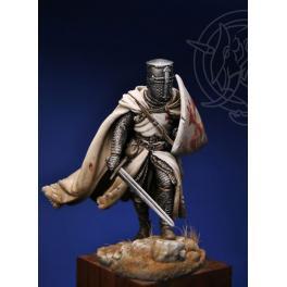 Figurine de chevalier Templier du XIIIème siècle 75mm Romeo Models.