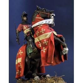 Figurine de chevalier médiéval 75 mm par Pegaso Models.