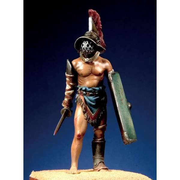 figurine 54mm Pegaso Gladiateur murmillo.