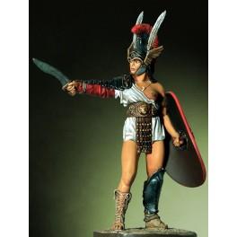 Amazone gladiateur figurine 54mm Pegaso.