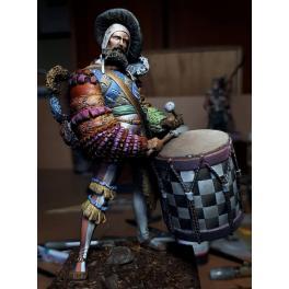 Figurine de tambour Lansquenet 75mm Masterclass