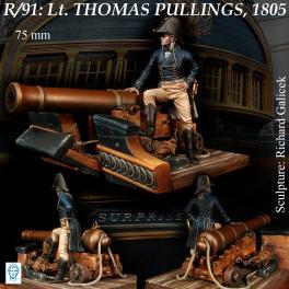 Figurine du Lieutenant Thomas Pullings, 1805 Alexandros Models 75mm.