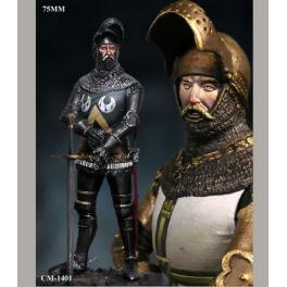 Figurine de chevalier du XVème siècle Crécy Models 75mm.
