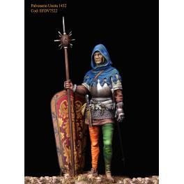 Figurine de soldat XVème siècle, 1430 Masterclass 75mm.