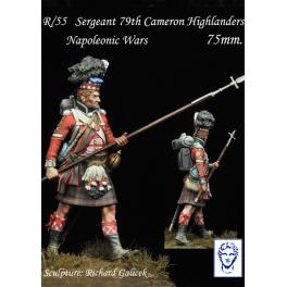 Figurine du 79th Cameron Highlanders 75mm Alexandros Models.