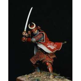 Pegaso models.90mm figuren.Samurai in voller Rüstung, im Duell.