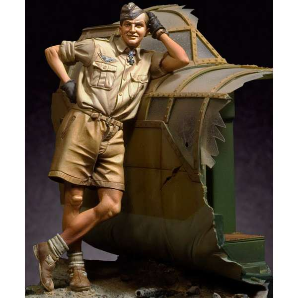 90mm Andrea miniatures : Hans-Joachim Marseille. 1942 figure kits.