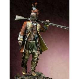 Figurine 75mm à peindre Iroquois 1760 Pegaso Models.