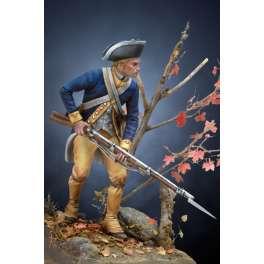 Andrea miniatures 54mm Figurine d'Infanterie Révolutionnaire US 1780