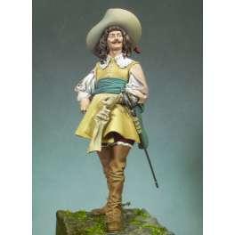 Figurine de Mousquetaire 1645 Andrea miniatures 90mm