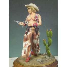 Figurine de Cowgirl 80mm Andrea Miniatures.