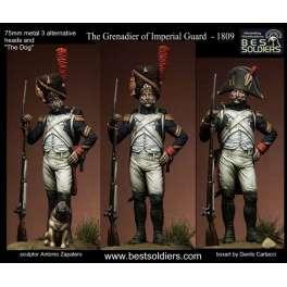 Figurine de grenadier de la garde 1809 Bestsoldiers 75mm.