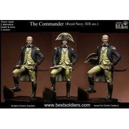 Figurine du Commandant, Royal Navy 75mm Bestsoldiers.
