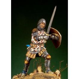 54mm.Pegaso figure kits, German Knight with Barbuta 1350-70.