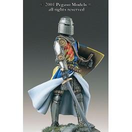 54mm Pegaso models figure kits, English knight XIV century.