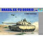 Char de bataille Brésilien EE-T2 Osorio. Maquette de char Trumpeter 1/35e