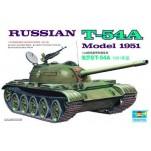 Char moyen Soviétique T-54A. Maquette de char Trumpeter 1/35e
