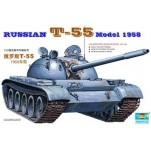 Char moyen Soviétique T-55 Modèle 1958. Maquette de char Trumpeter 1/35e
