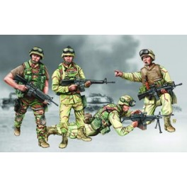Set de troupes des US Marines- Iraq 2003/2004. Figurine Trumpeter 1/35e