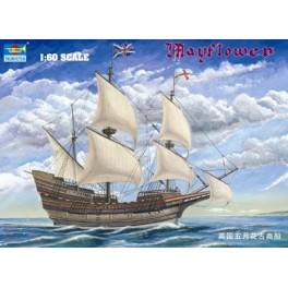 Navire Mayflower XVe siècle. Longueur 60cm. Maquette Trumpeter  1/60e