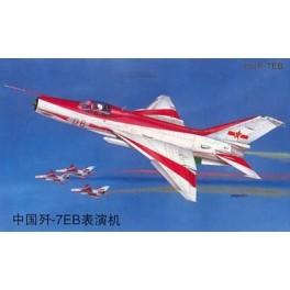 F-7EB ARMEE DE L'AIR CHINOISE ESCADRILLE ACROBATIQUE CHINOISE Maquette avion Trumpeter 1/32e