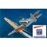 """DOUGLAS SBD 1/2 """"DAUNTLESS"""" + PILOTE ET MITRAILLEUR US NAVY 1941 Maquette avion Trumpeter 1/32e"""